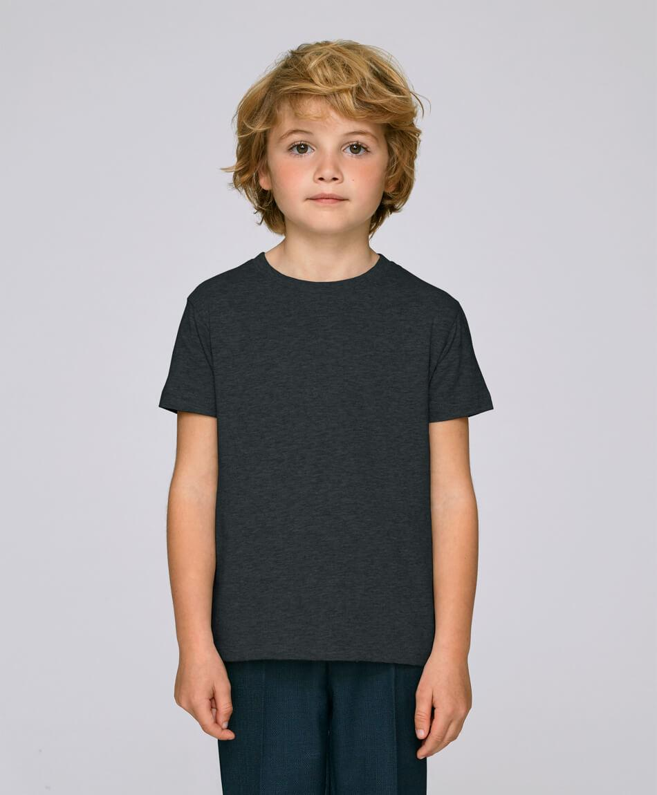 Bio Jungen T-Shirt in Dark Heather Grey front