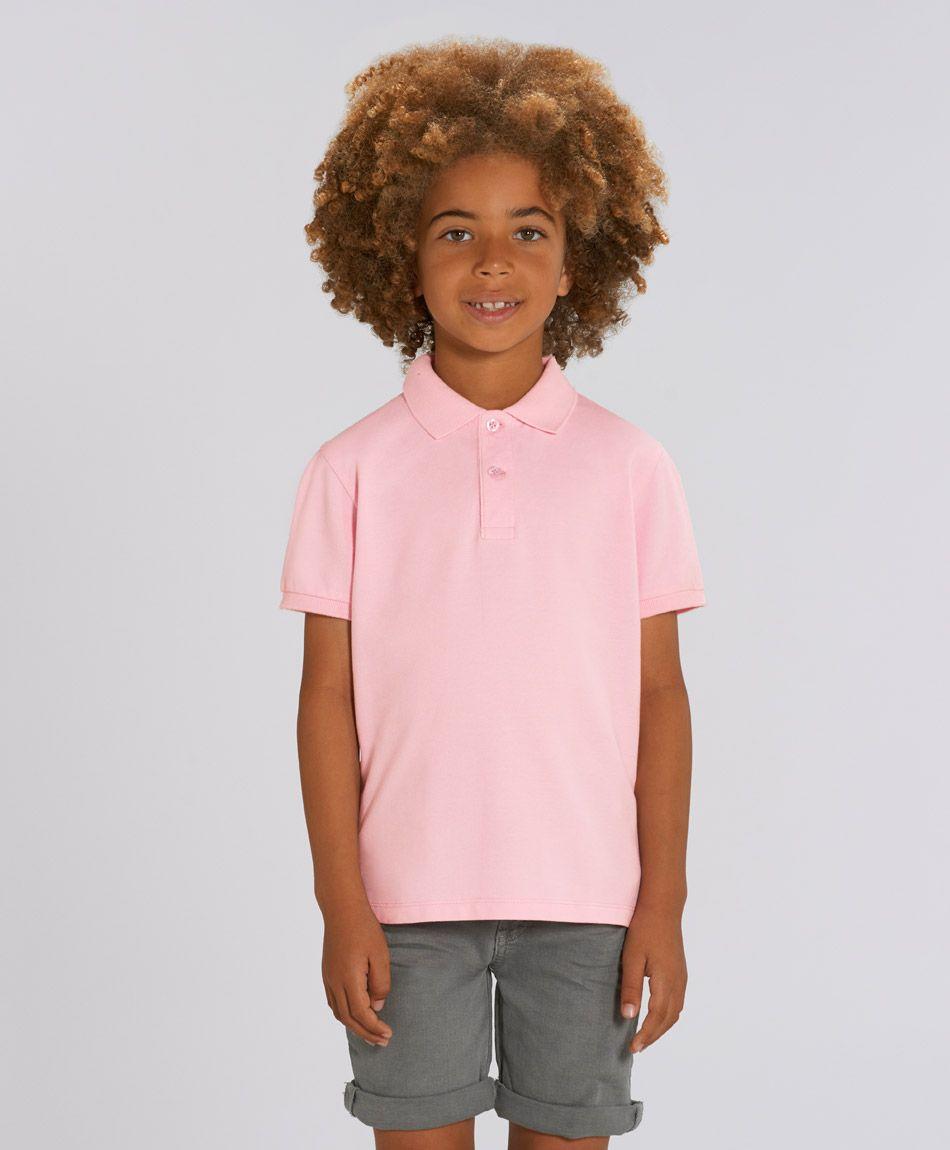Unisex Kinder Poloshirt Max Cotton Pink