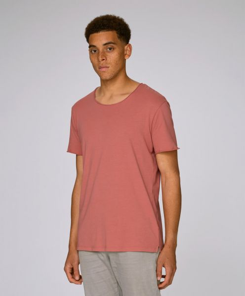 Organic vintage T-Shirt in salty rose Mann