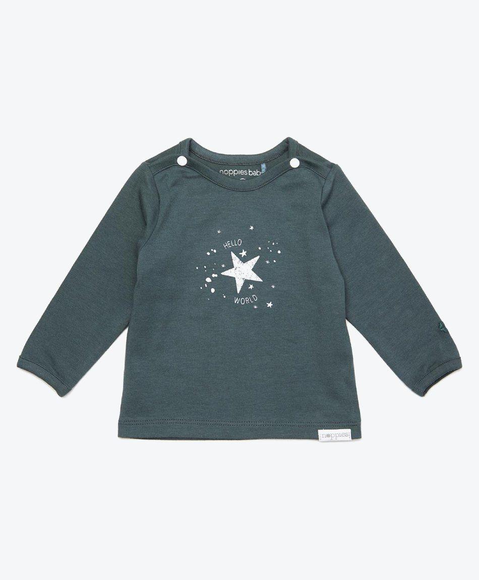 Langarmshirt Lux - Dark Slate