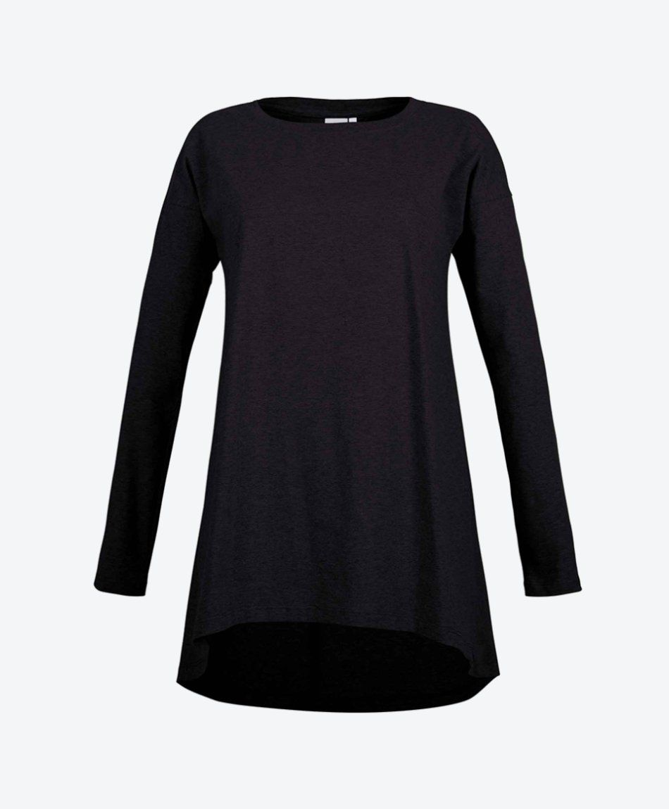 GROUND IVY Longsleeve Dark Black