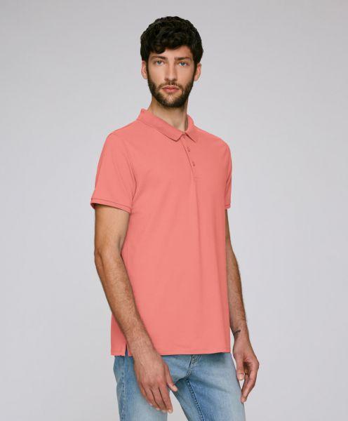 Lässiges Pique-Poloshirt Competes in pink Mann