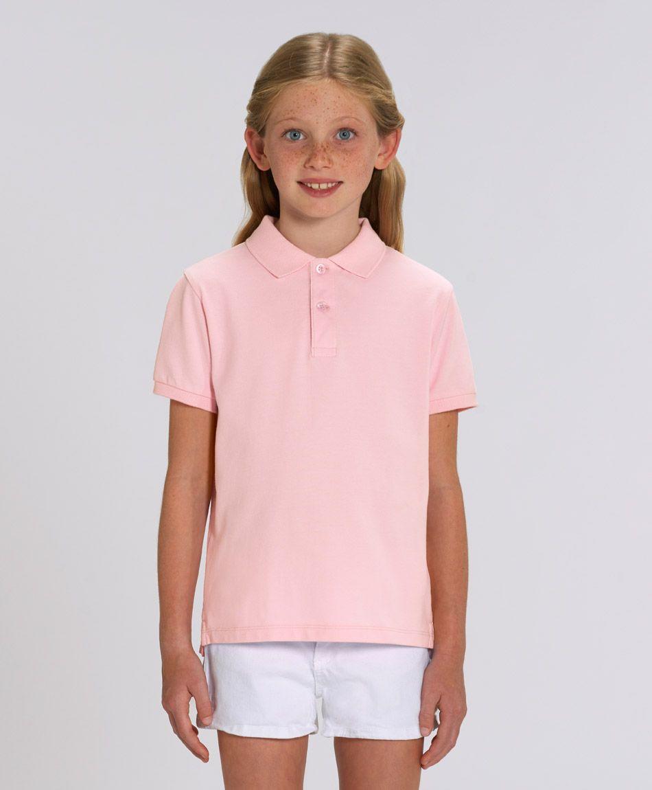 Unisex Kinder Poloshirt Marie Cotton Pink