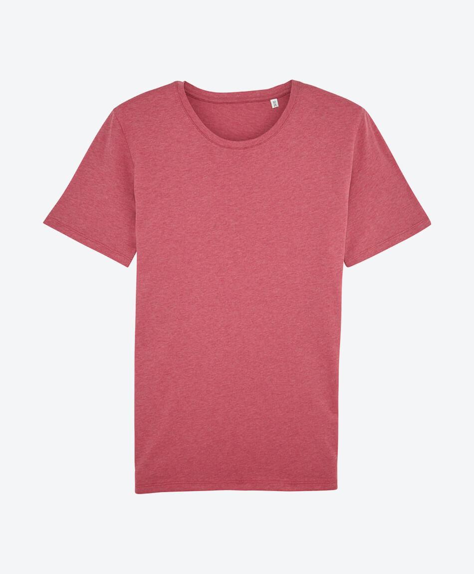 Unisex T-Shirt aus Bio Baumwolle in heather cranberry
