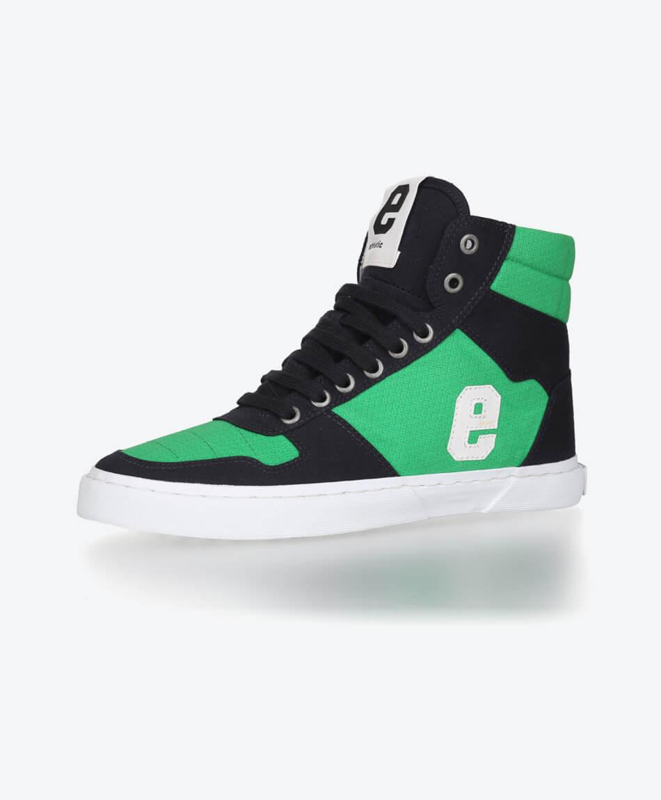 Veganer FairTrade Sneaker Hiro 18 Grid Green