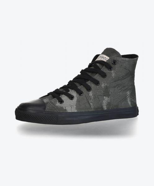 FairTrade Hi Cut Black Cap Sneaker Dove Camo Olive