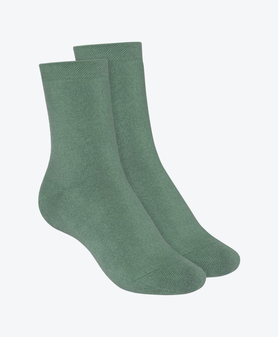 2 Pack Terry Mid Socks Jade