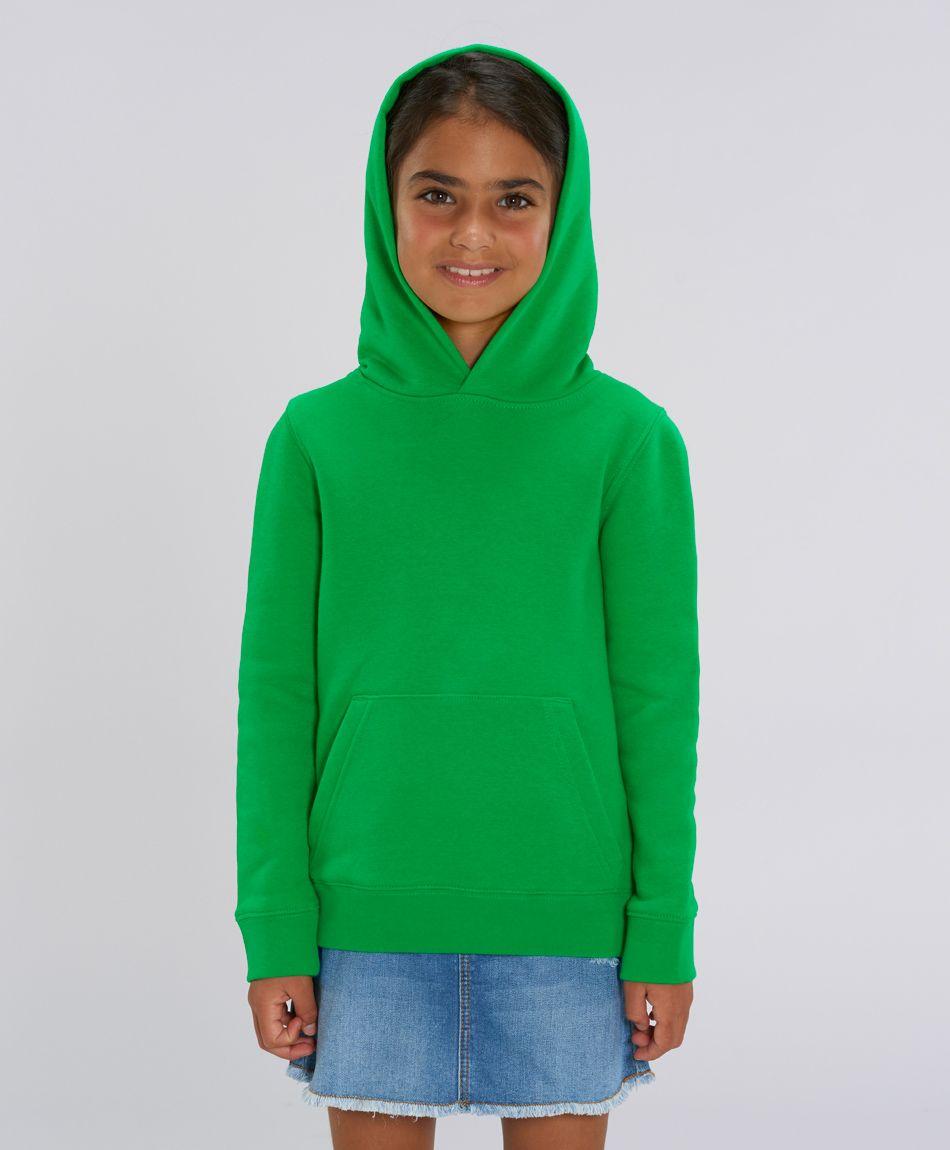 Unisex Kinder Hoodie Camille Fresh Green