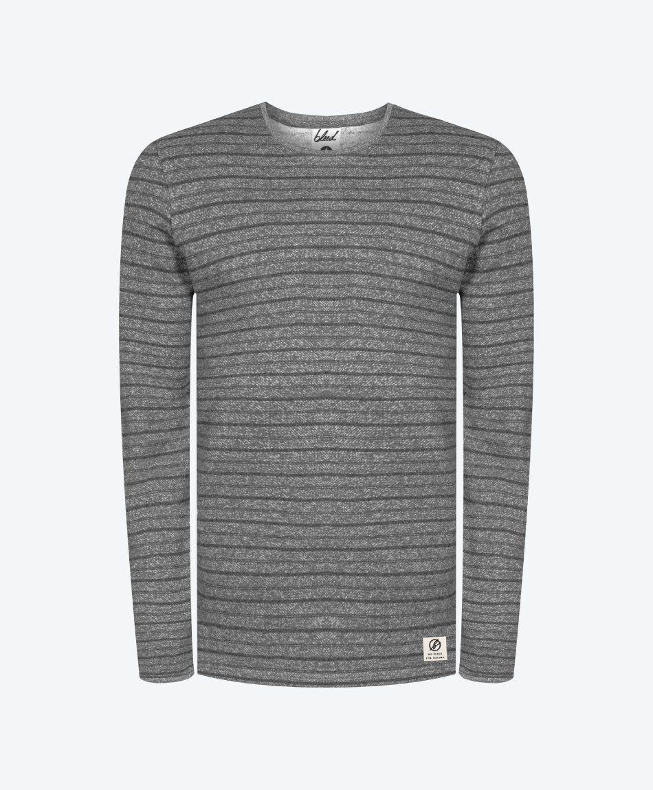 Striped Sweater Hemp Grey