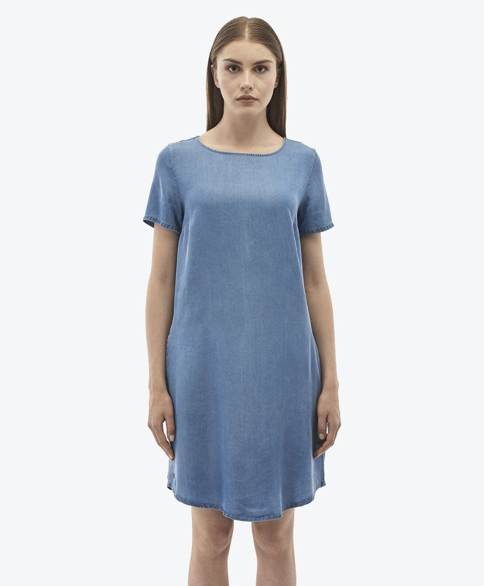 Kleid aus Tencel™ Denim