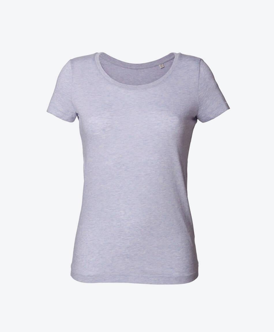 Öko Mode Damen Bio T-Shirt in helllila meliert