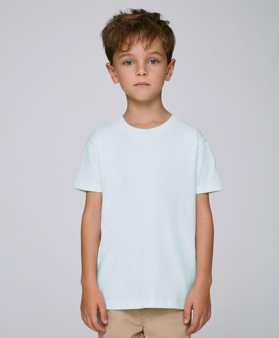 Bio Jungen T-Shirt in Baby Blue front