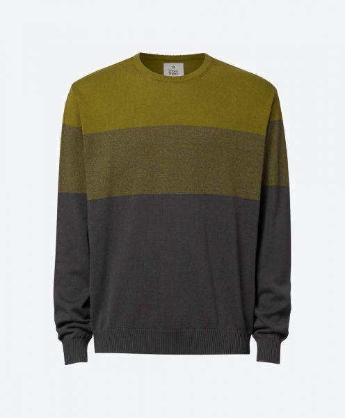 Pullover Olive Stripes