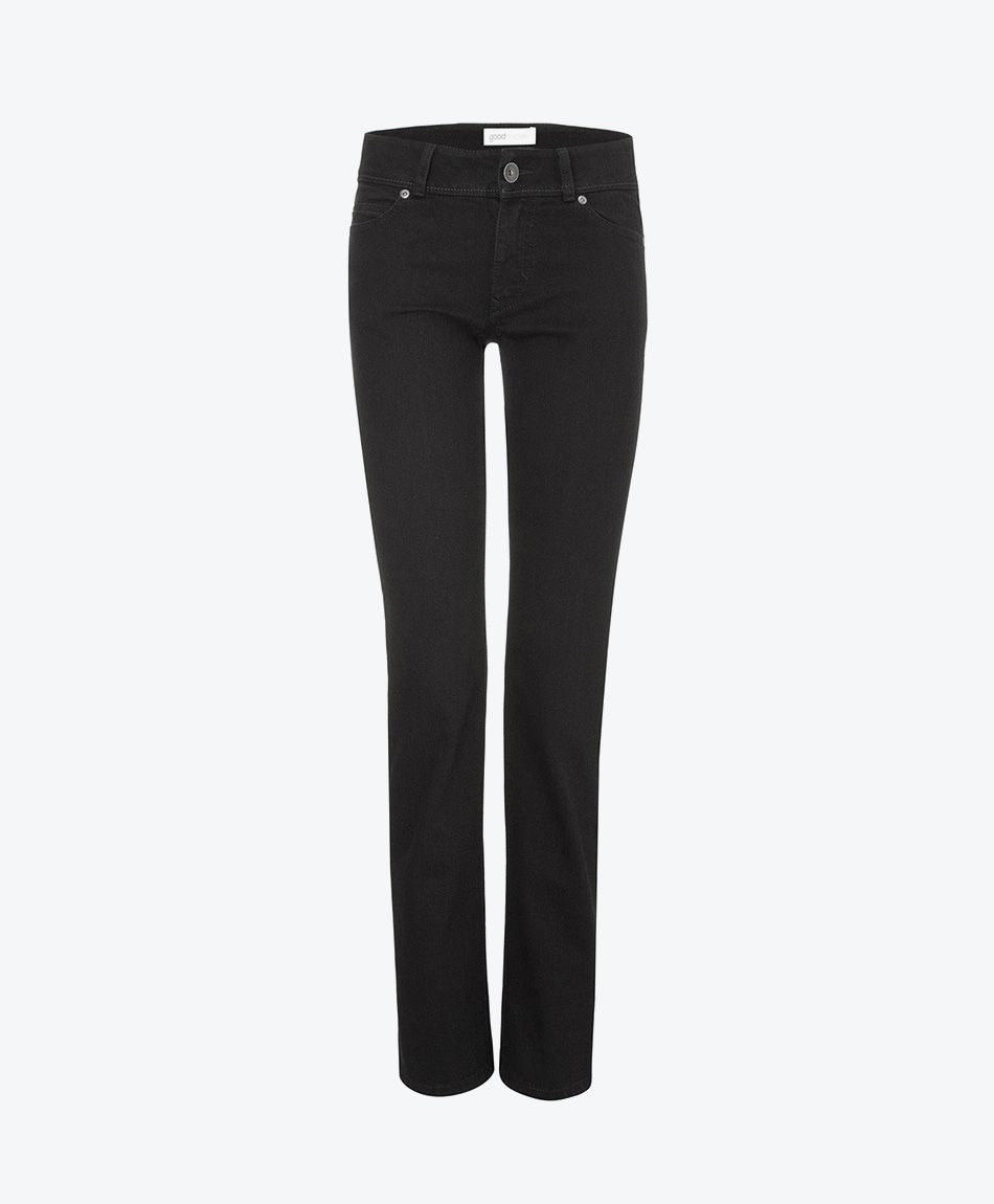 Womens Straight Jeans - Black One Wash