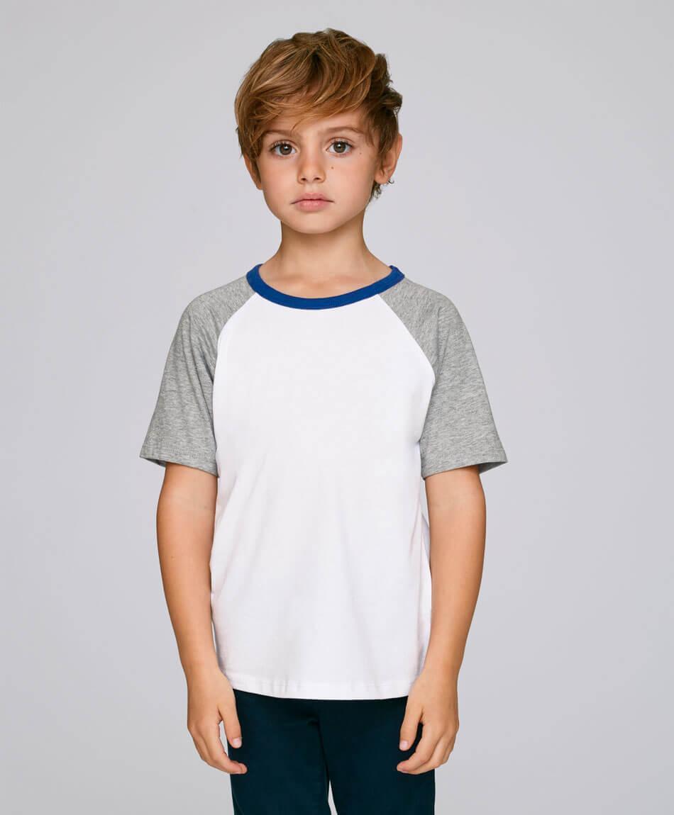 Kinder T-Shirt aus Bio Baumwolle in Grau Junge