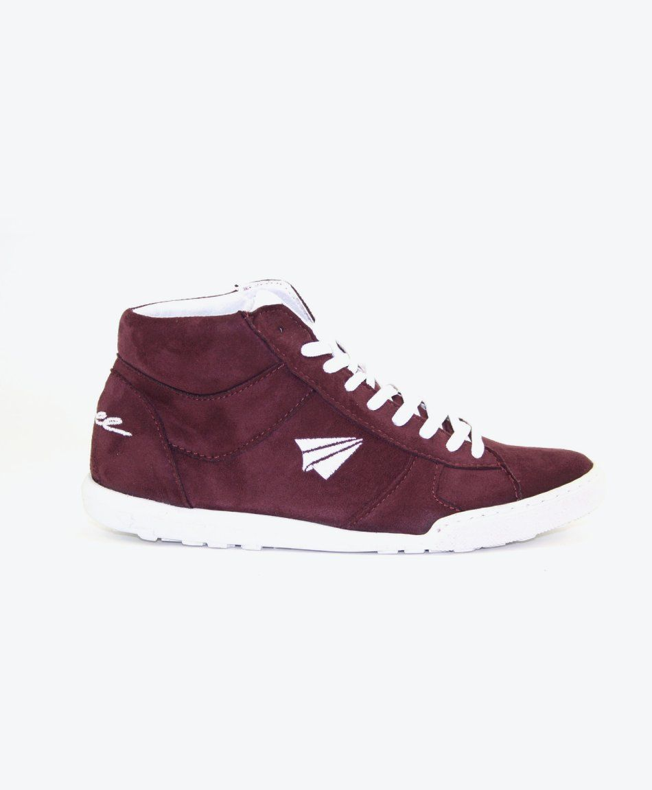Sneaker Pluto High-Cut Bordo