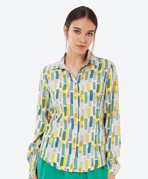 Hemdbluse aus Tencel™ mit Allover-Print