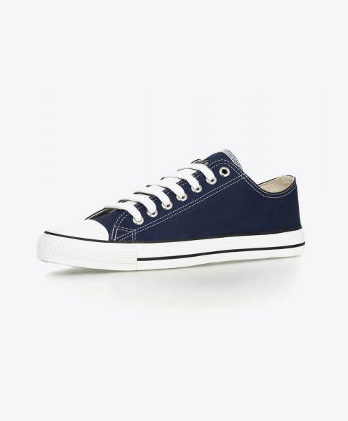 Fairer Sneaker aus Bio Baumwolle in blau