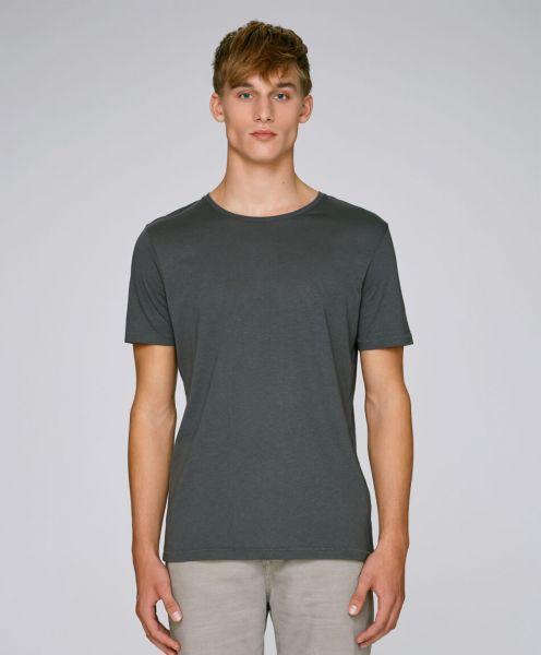 Bio T-Shirt aus Modal und Bio Baumwolle in anthracite Mann