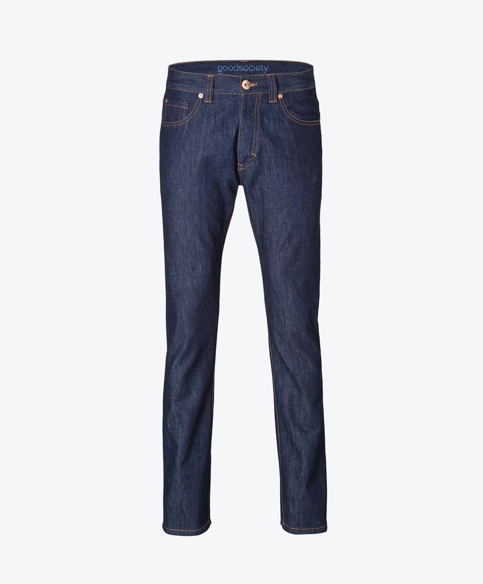 Mens Straight Jeans - Raw One Wash