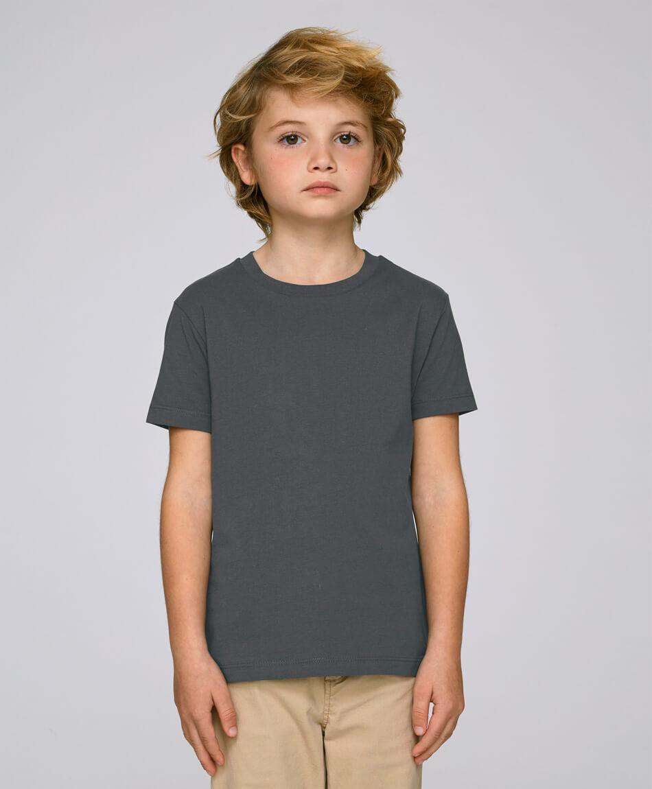 Bio Jungen T-Shirt in Anthracite front