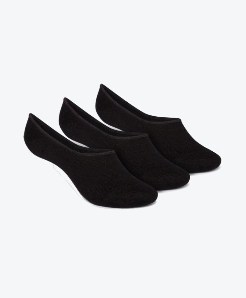 3 Pack No Show Socks Black