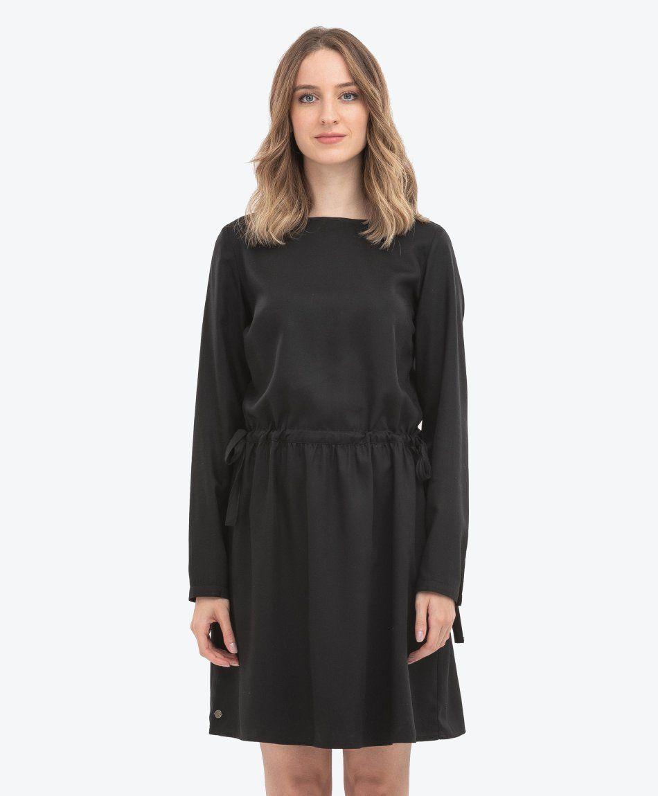 Kleid aus Tencel™ mit U-Boot-Ausschnitt