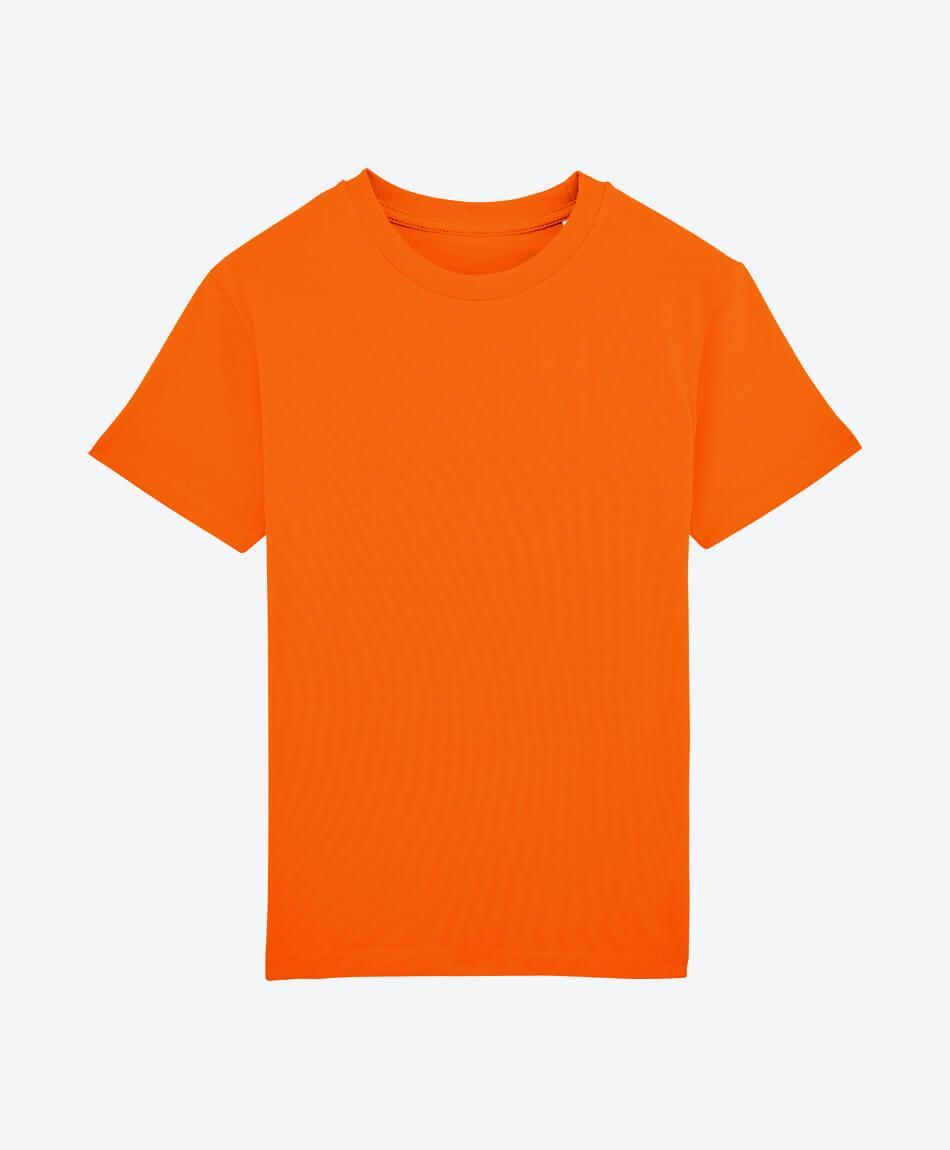 Bio Jungen T-Shirt in Bright Orange