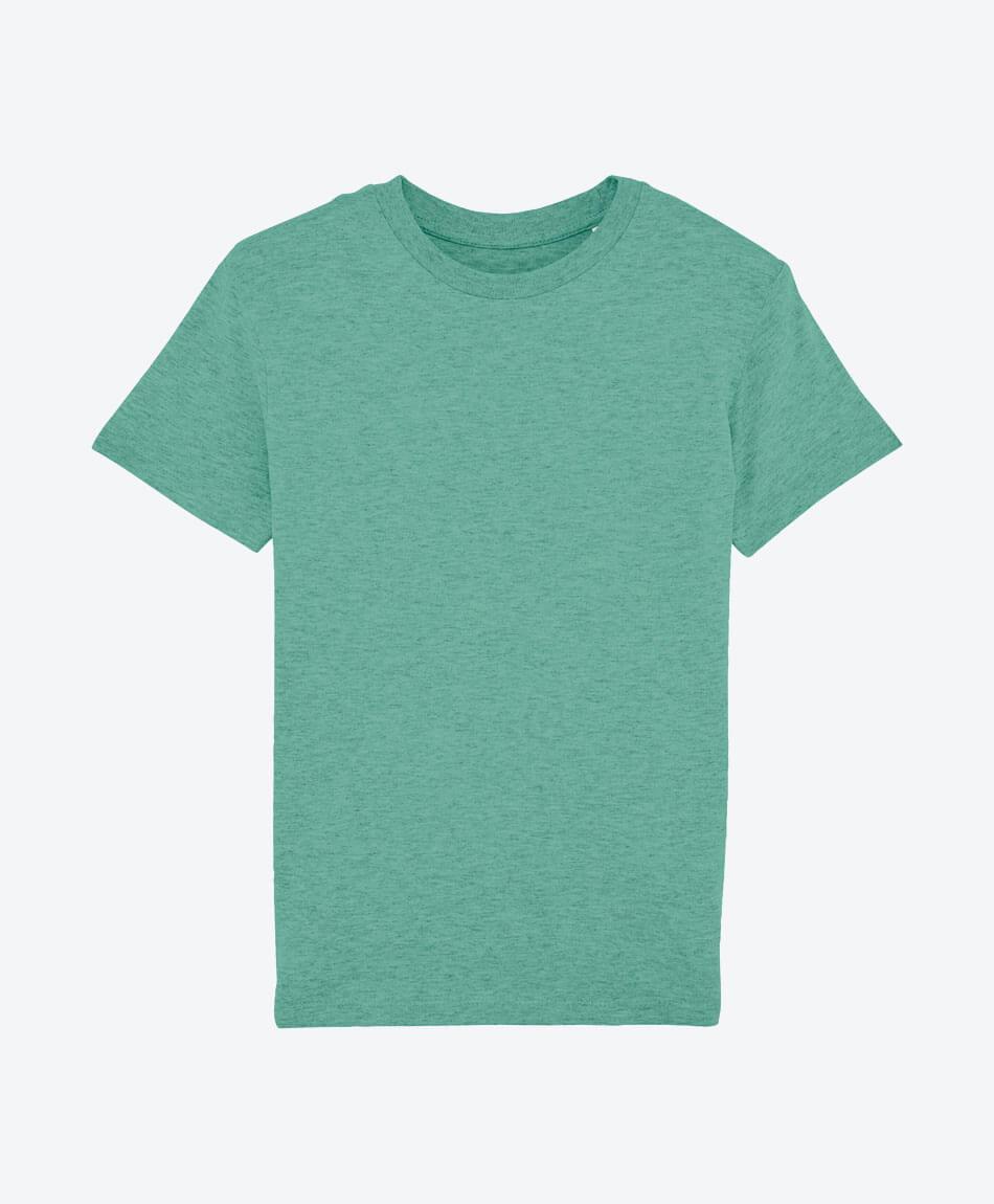 Bio Jungen T-Shirt in Grün meliert front