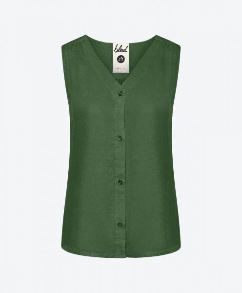 Light-Breeze TENCEL™ Blouse Dark Green