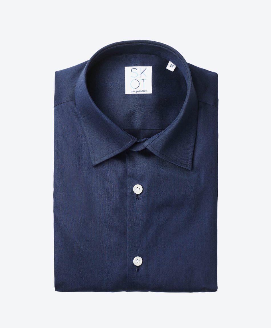 Shirt Navy Satin