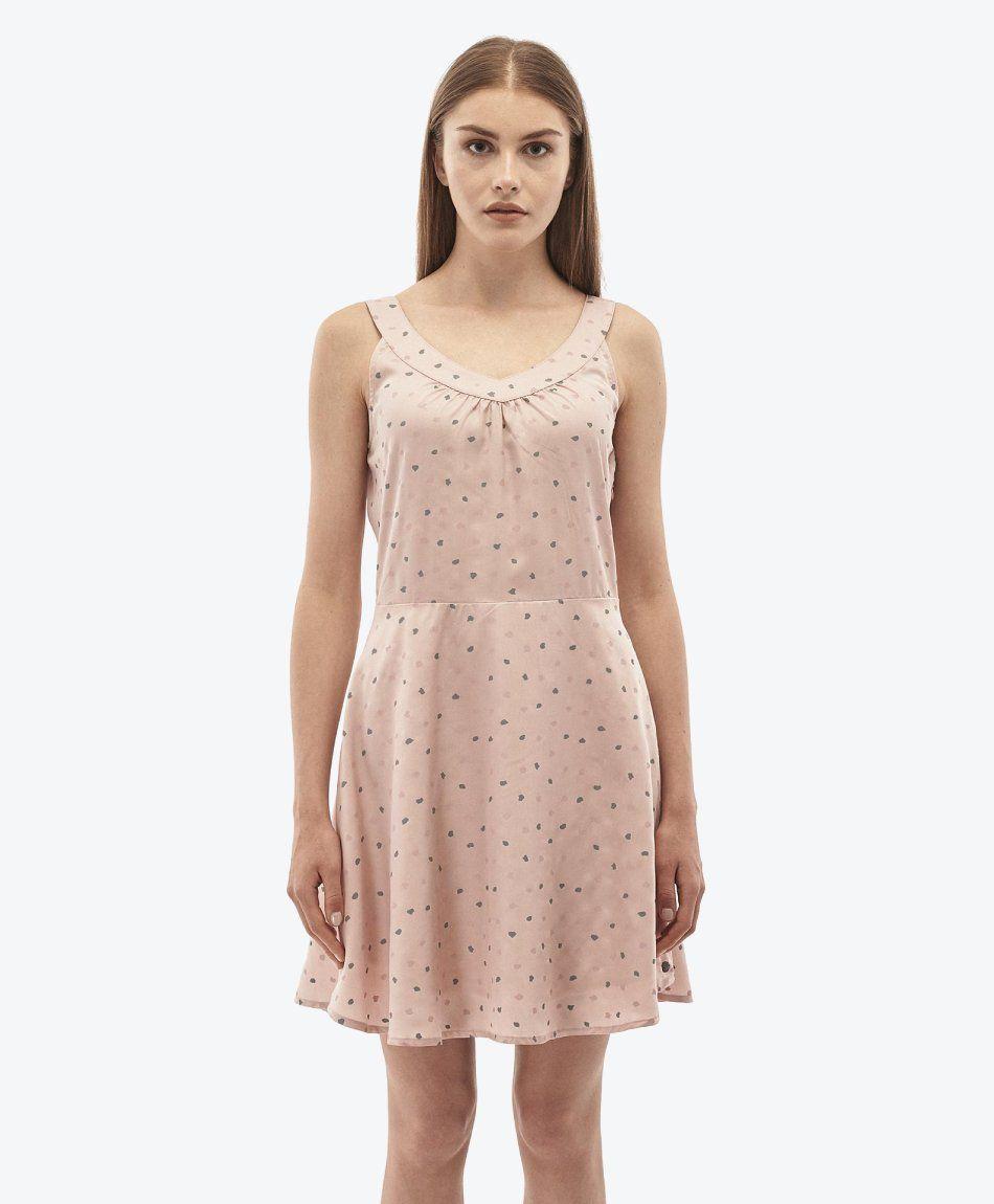 Kleid aus Tencel™ Rose Smoke