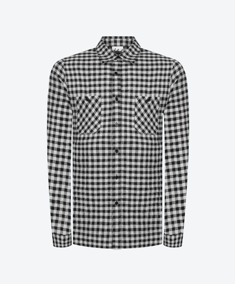 Small Checks Shirt Black