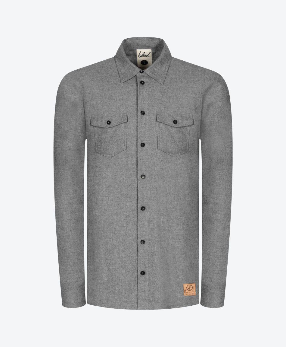 Flannel Shacket Grey
