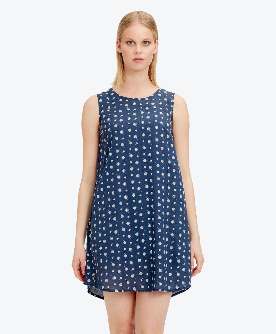 Kleid aus Tencel™ mit Allover-Print