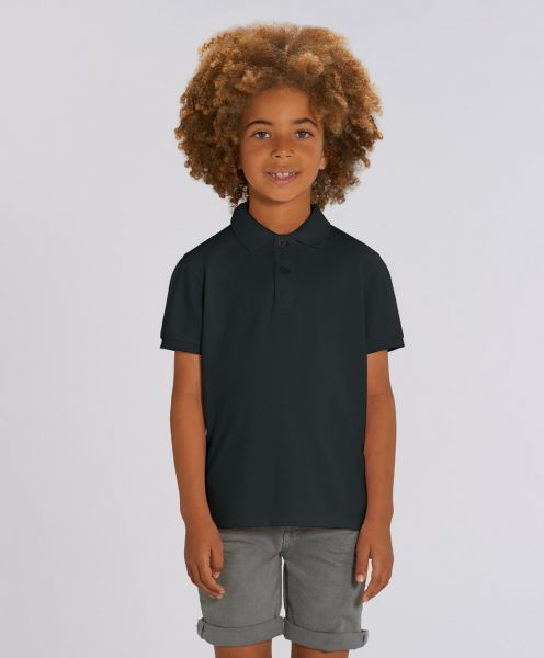 Unisex Kinder Poloshirt Max Black