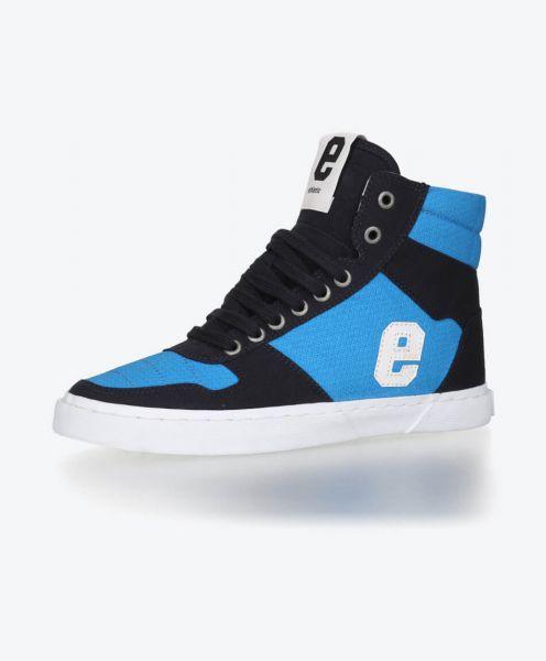 Veganer FairTrade Sneaker Hiro 18 Grid Blue