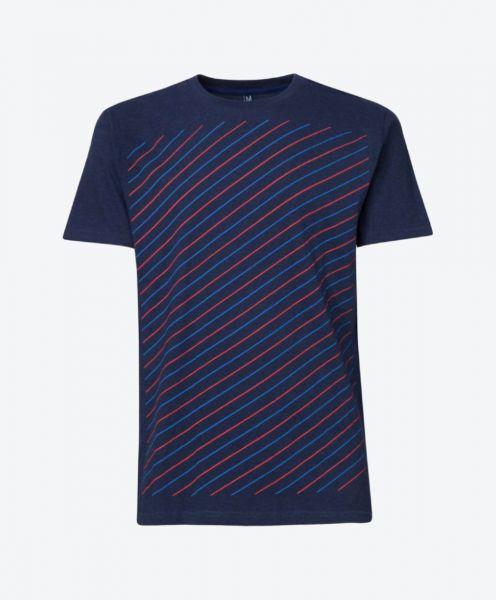 T-Shirt Thin Striped Blue