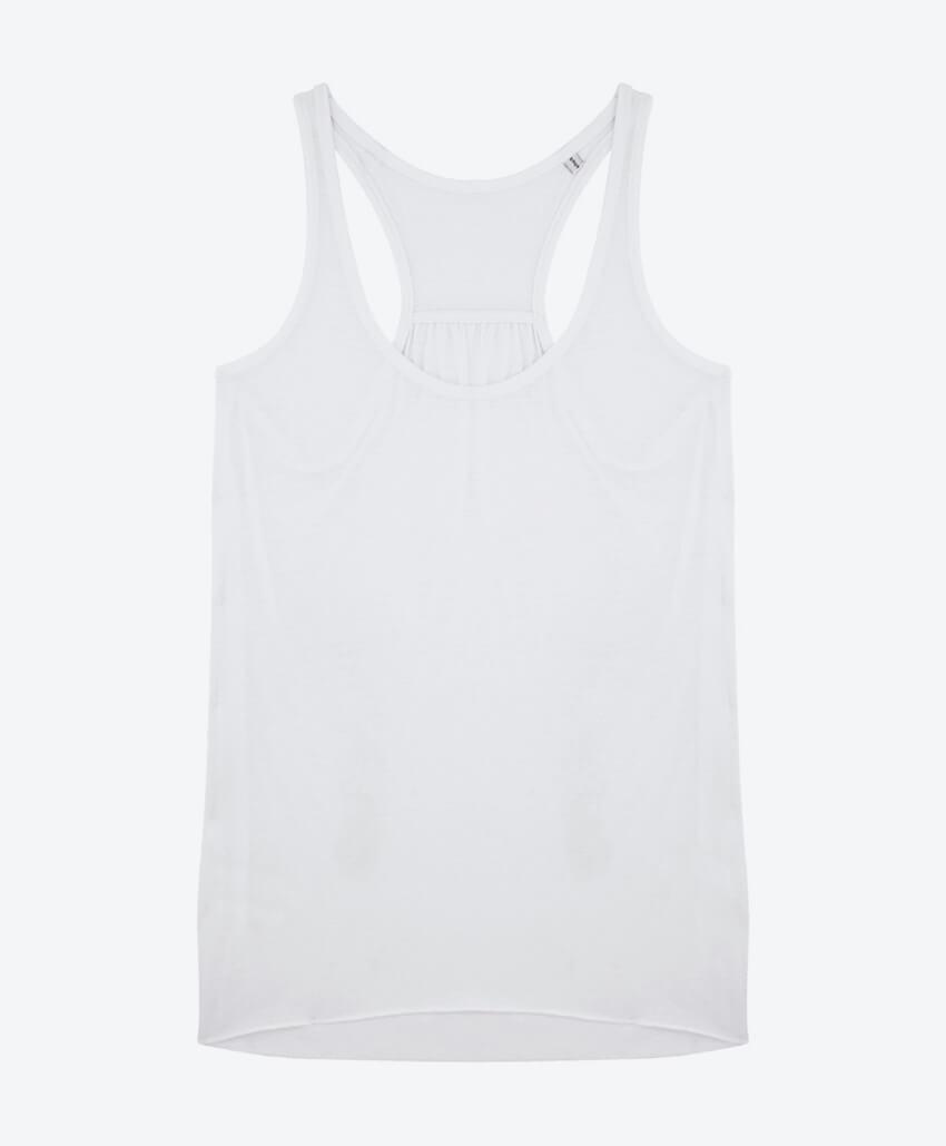 Bio Baumwolle-Tencel Damen Tanktop White