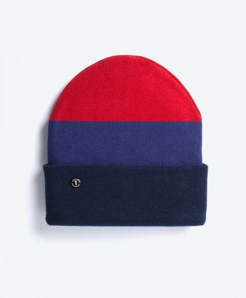 Folded Beanie Red-Blue-Navy